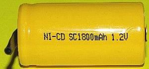 ニッカド充電池 SC1800-TAB