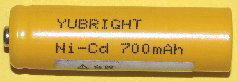単三型ニッカド充電池