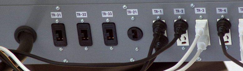 舞台照明用電源ボックスのコンセント