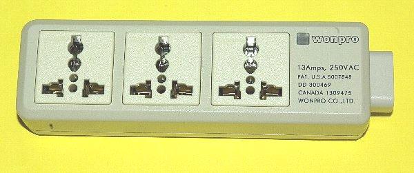 海外向け電源タップ3個口
